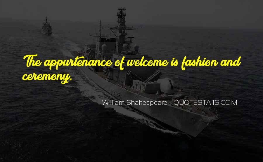 William Shakespeare Fashion Quotes #734724