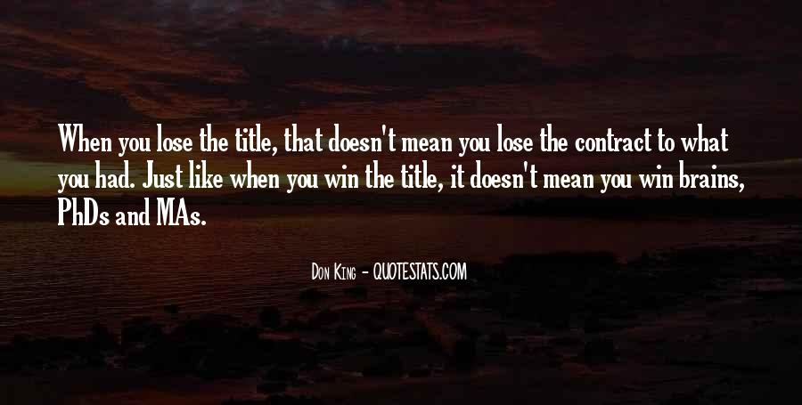 Win It Quotes #14109