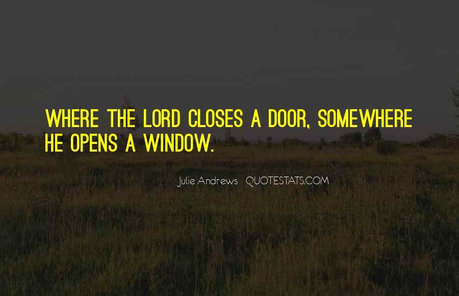 Window Closes Door Opens Quotes #1786836