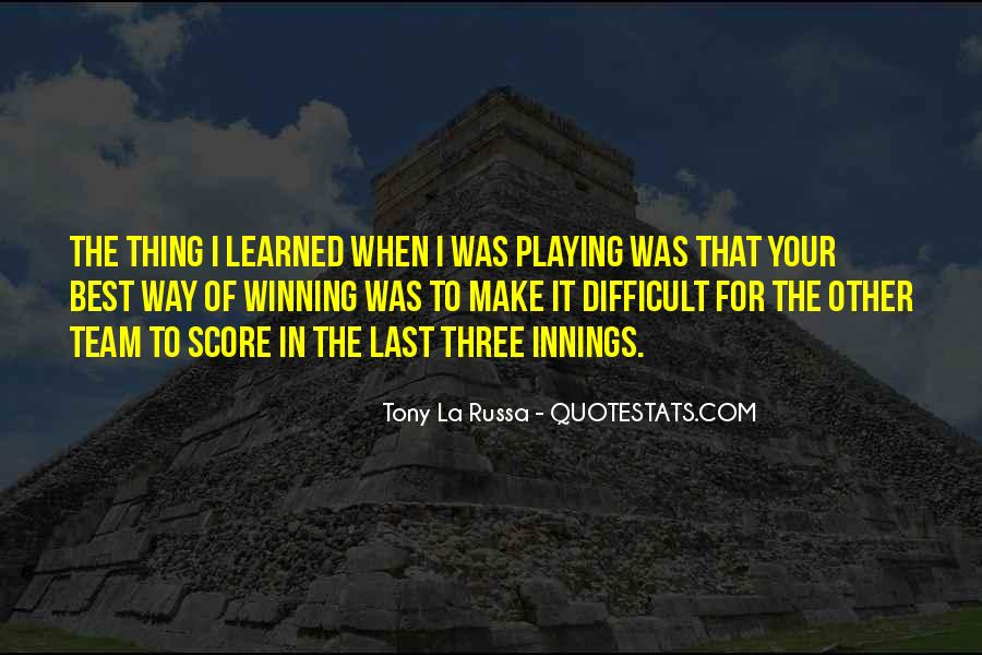 Winning Tradition Quotes #1191778