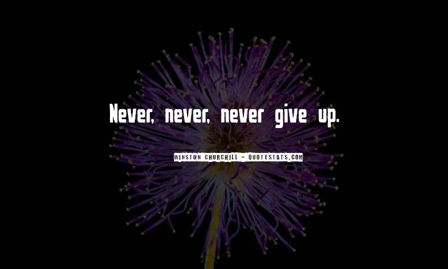 Winston Churchill Never Give In Quotes #966912