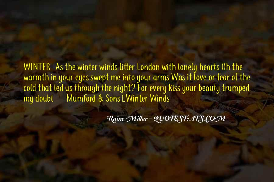 Winter Night Love Quotes #1835895
