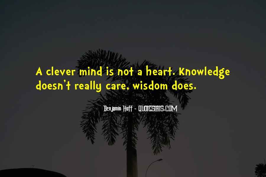 Wisdom Clever Quotes #297693