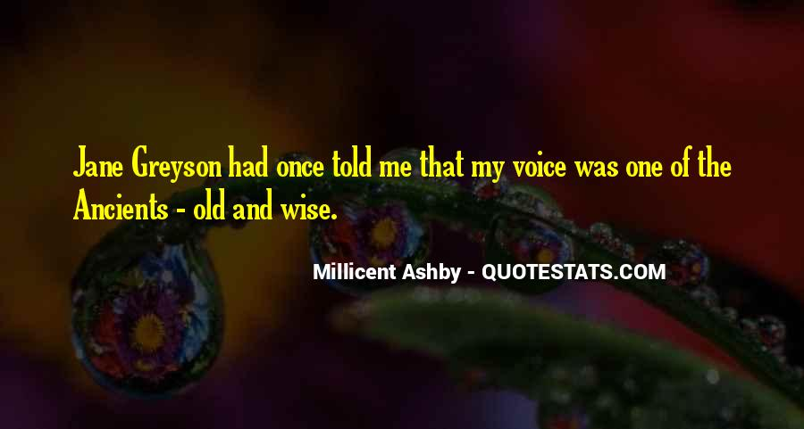 Wise And Old Quotes #752021