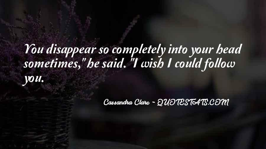 Wish Could Disappear Quotes #144053