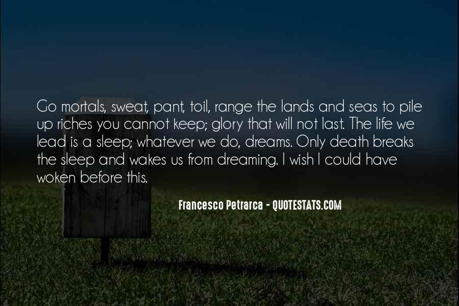 Wish I Could Sleep Quotes #181406