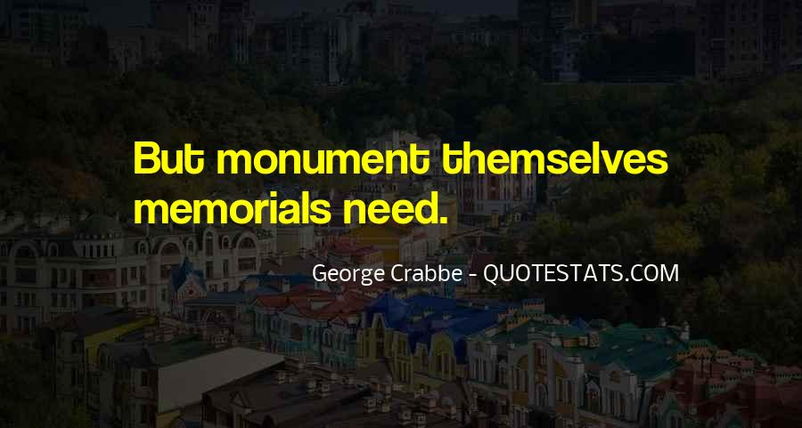 Quotes About Memorials #472290