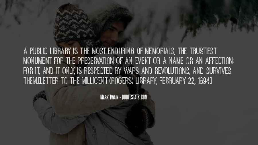 Quotes About Memorials #538679