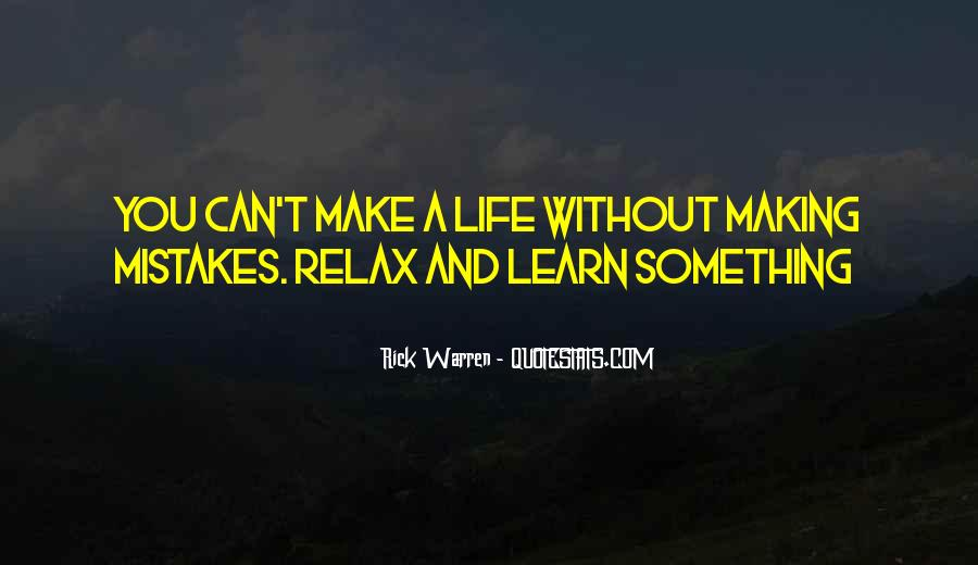 Without Making Mistakes Quotes #163243