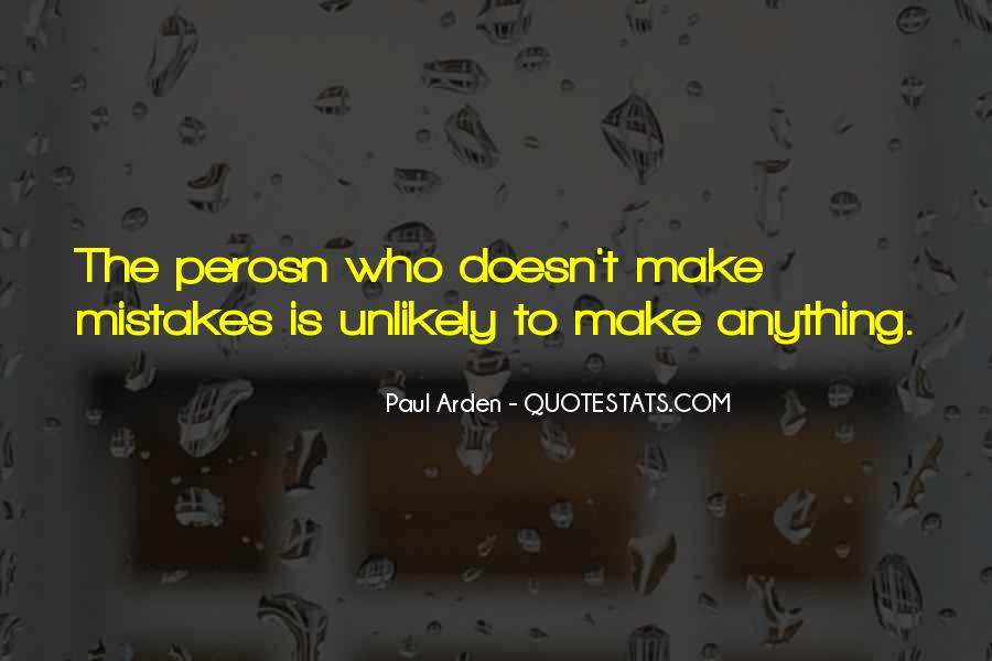 Without Making Mistakes Quotes #2113