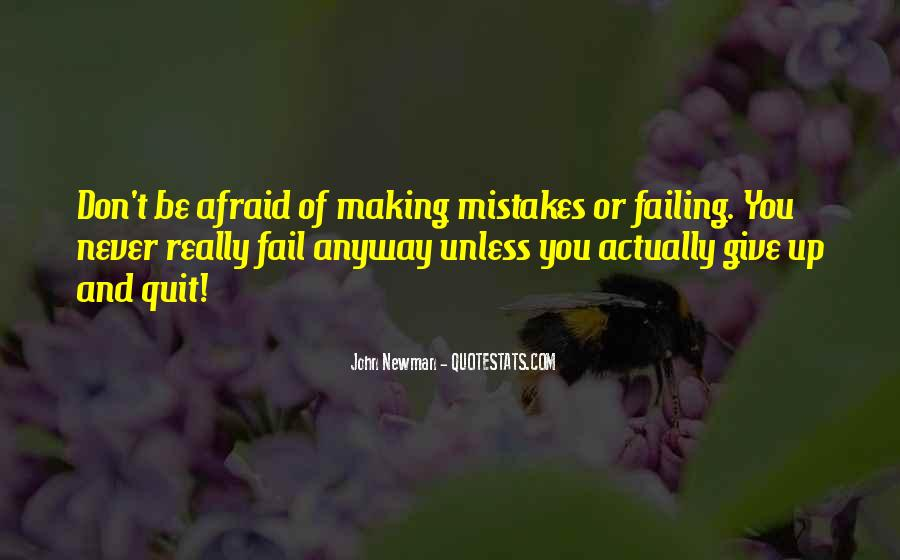 Without Making Mistakes Quotes #30155