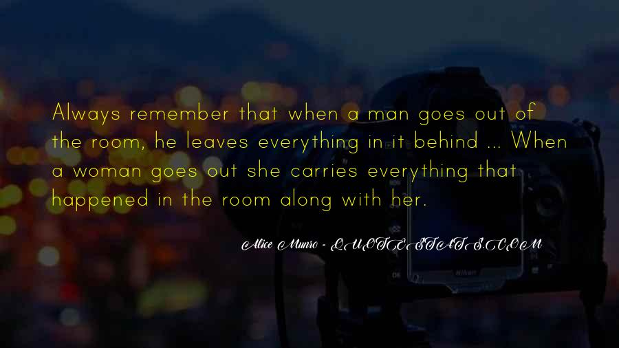 Woman Behind Man Quotes #1679560
