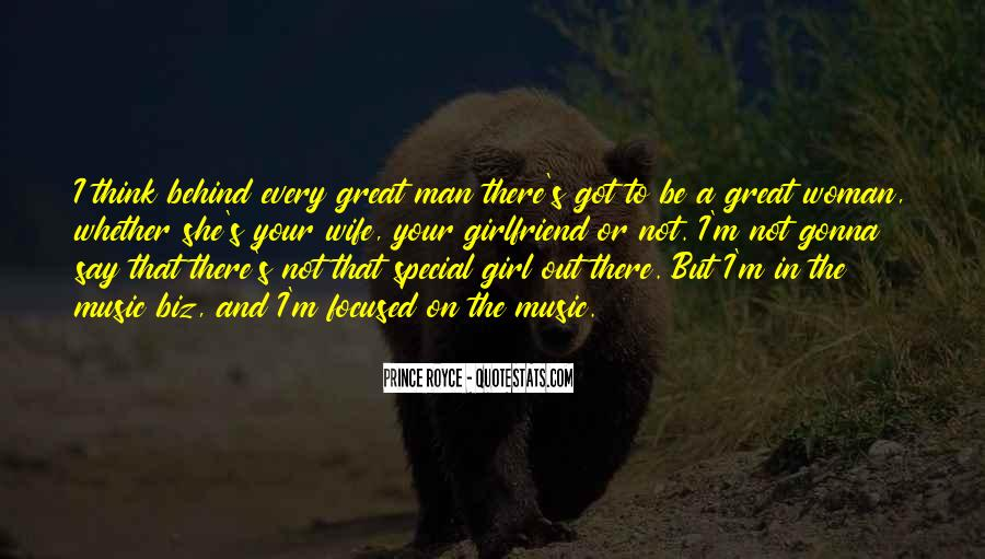 Woman Behind Man Quotes #843658