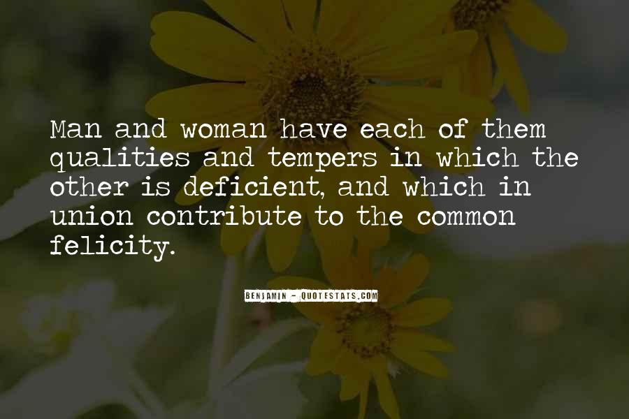 Woman Qualities Quotes #1872899