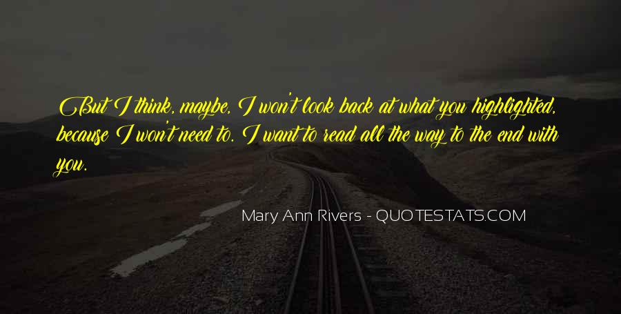 Won't Look Back Quotes #1182012