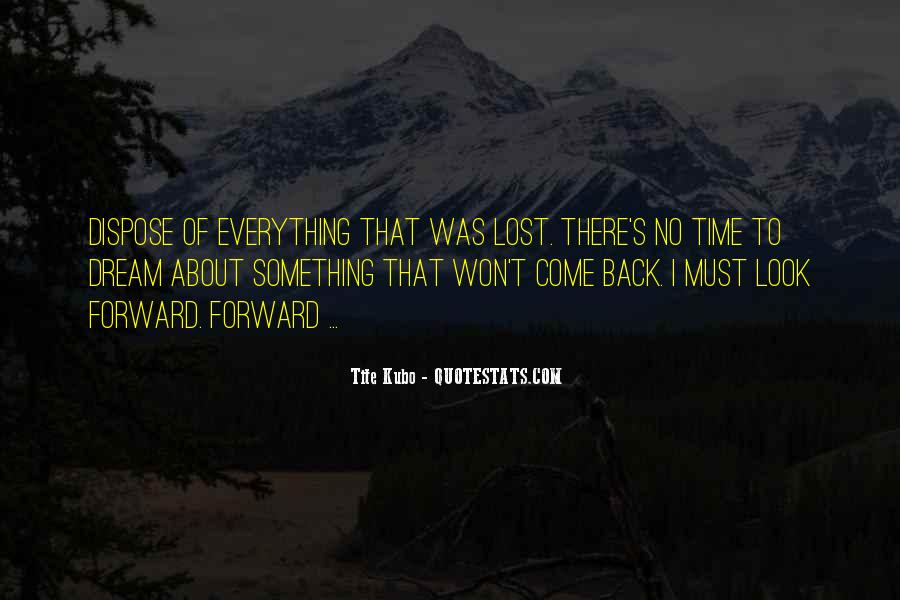Won't Look Back Quotes #183744