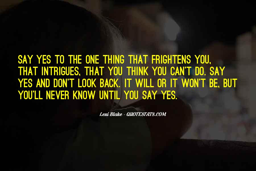 Won't Look Back Quotes #736486