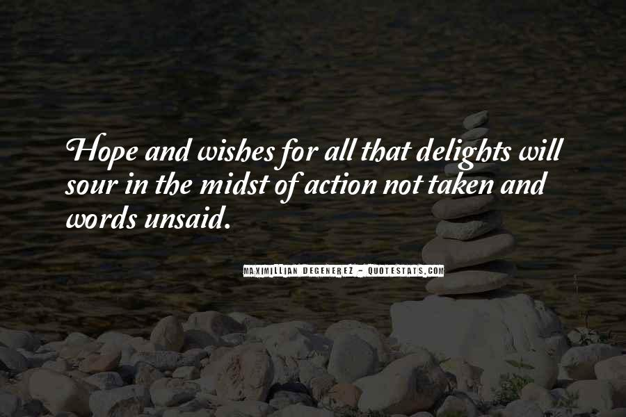 Words In Action Quotes #1150156