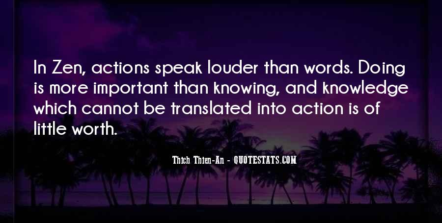 Words In Action Quotes #1169198