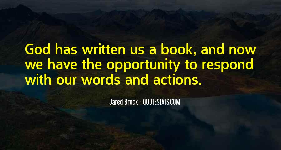 Words In Action Quotes #864705