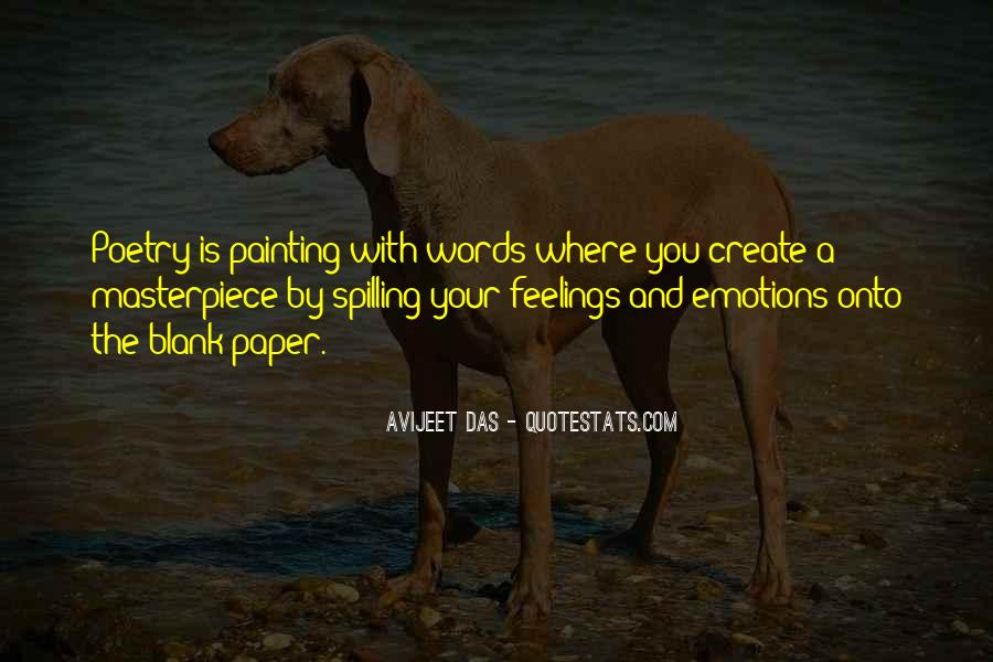 Words Of Feelings And Emotions Quotes #1738768