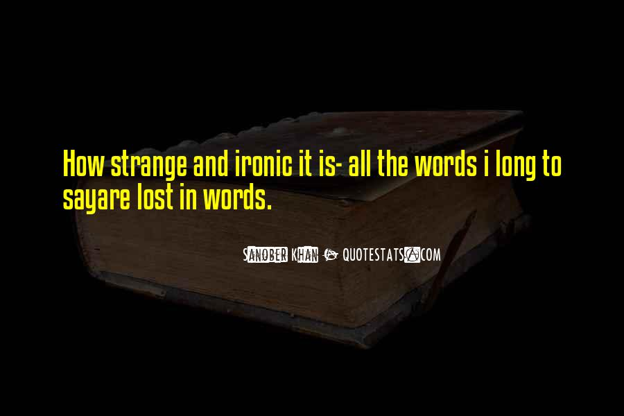 Words Of Feelings And Emotions Quotes #691600