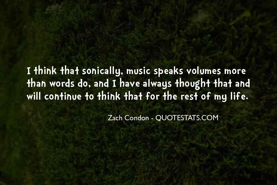 Words Speak Volumes Quotes #623016