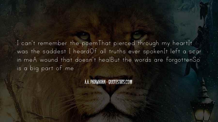 Words That Are Spoken Quotes #908244