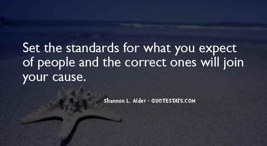 Quotes About Standards Love #1101539