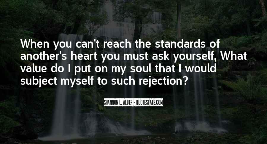 Quotes About Standards Love #1419713