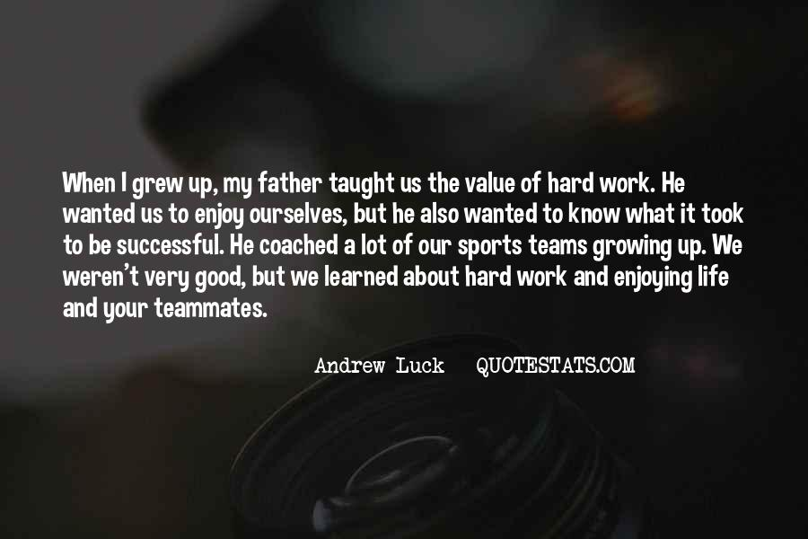 Work Hard Sports Quotes #518296