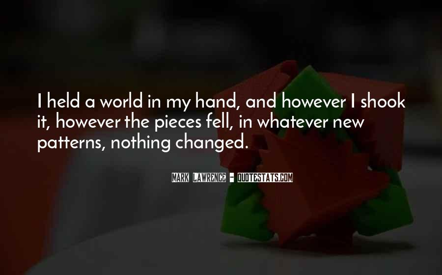 World In My Hand Quotes #219736