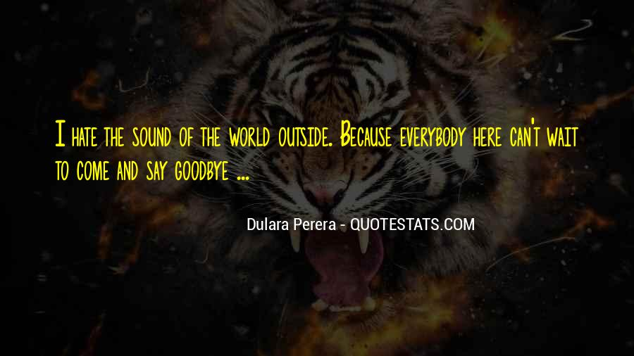 World Of Hate Quotes #138287