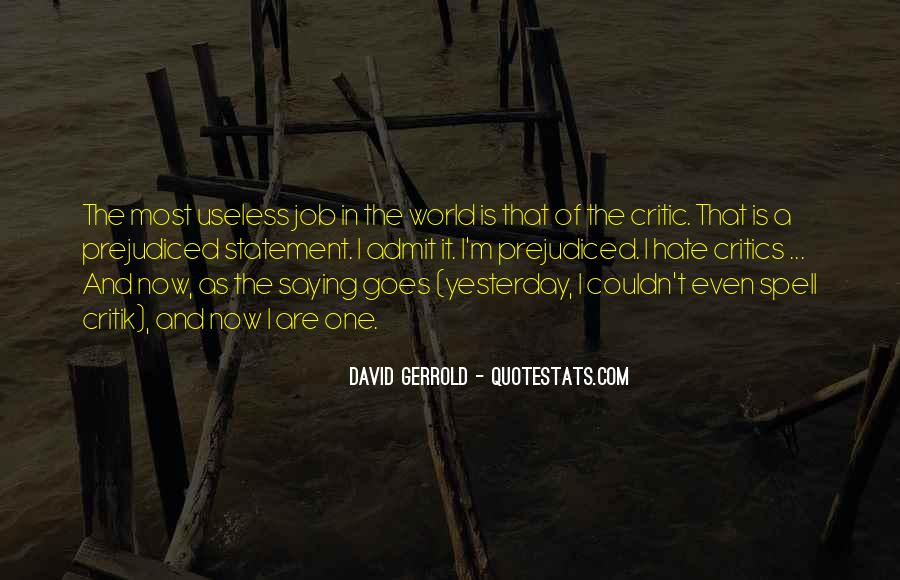 World Of Hate Quotes #37455