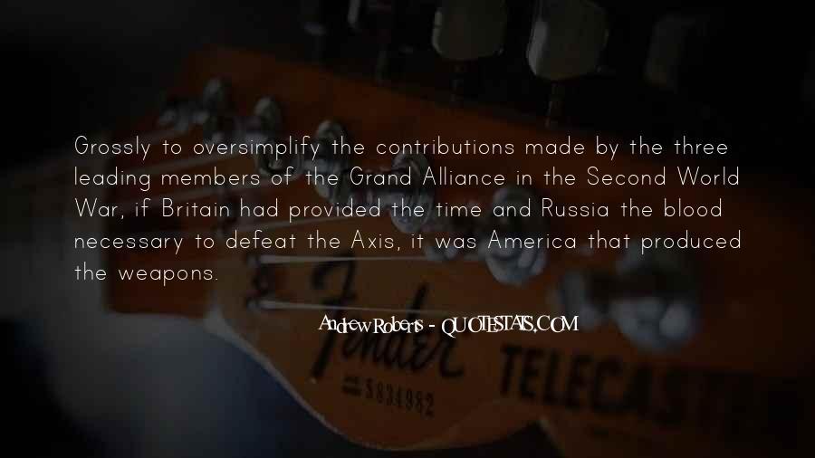 World War One Alliance Quotes #1292317