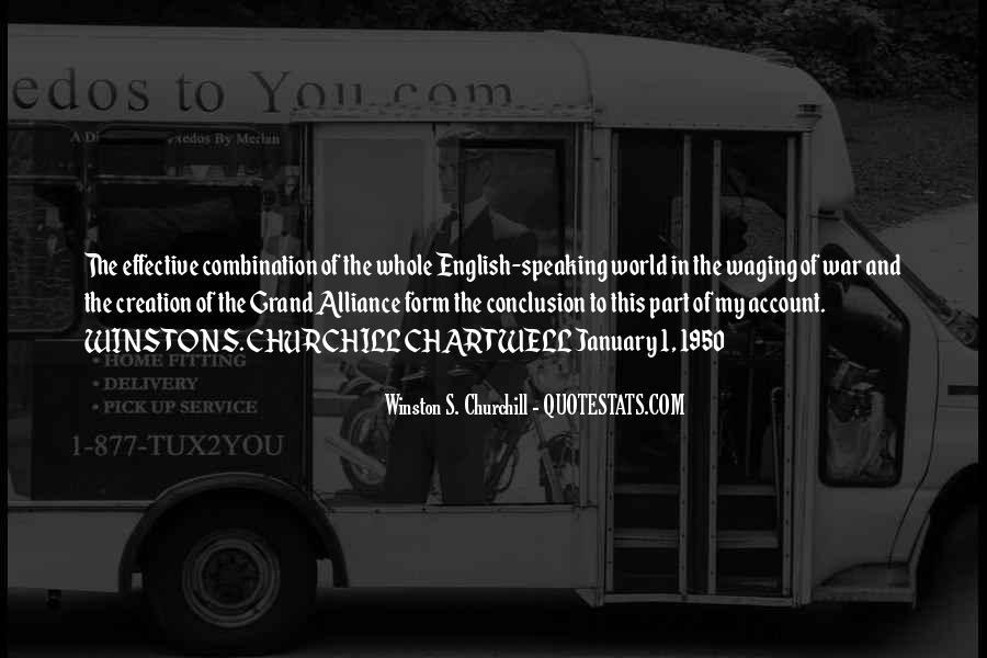 World War One Alliance Quotes #1851805