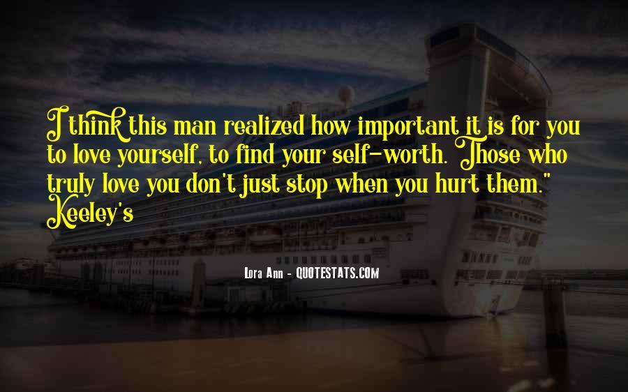 Worth Man Quotes #120865