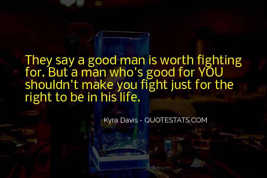 Worth Man Quotes #141777