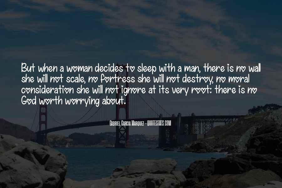 Worth Man Quotes #143372