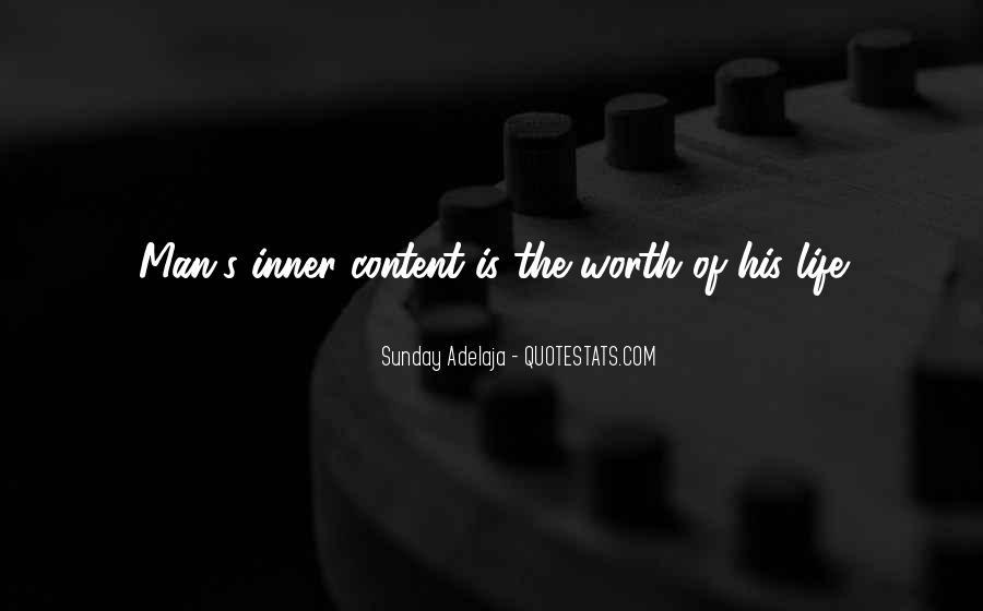 Worth Man Quotes #156786