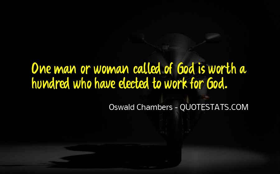 Worth Man Quotes #247953