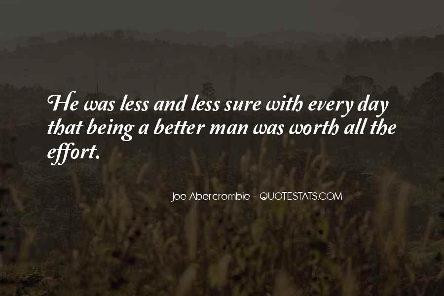 Worth Man Quotes #270906