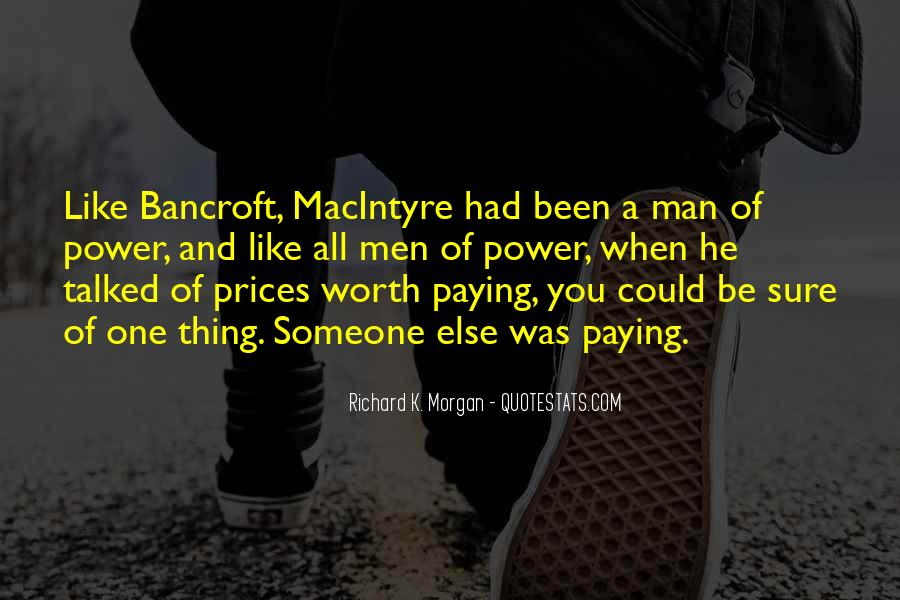 Worth Man Quotes #28567