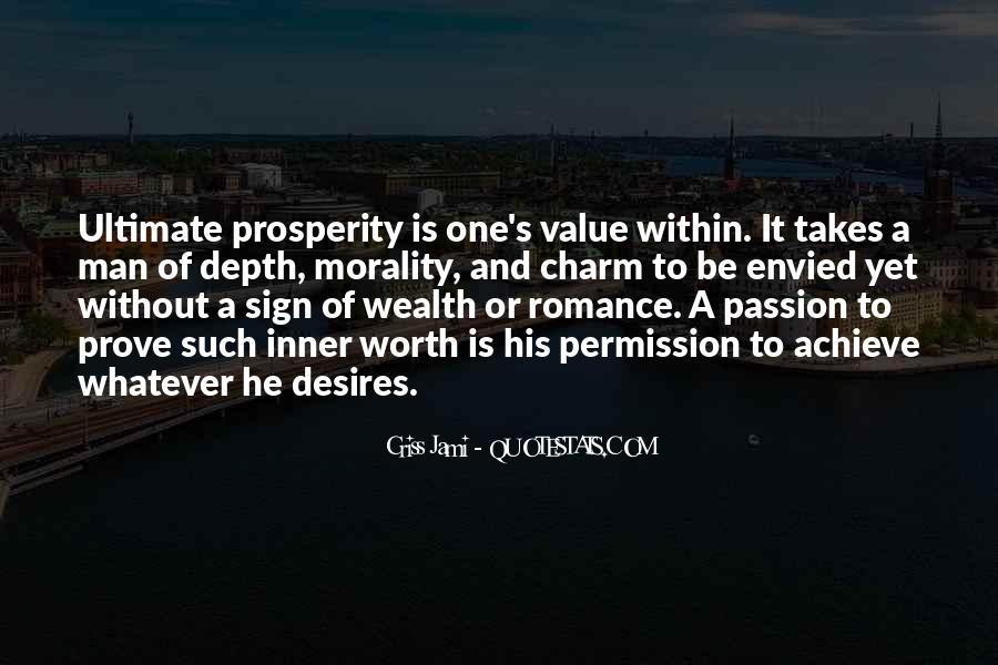 Worth Man Quotes #295844