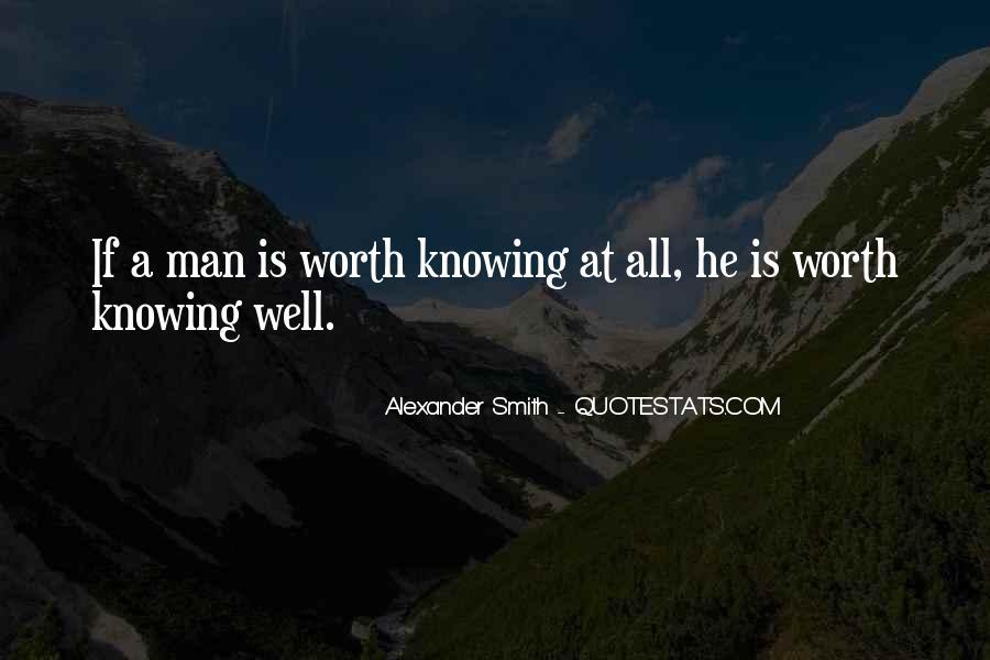 Worth Man Quotes #297192