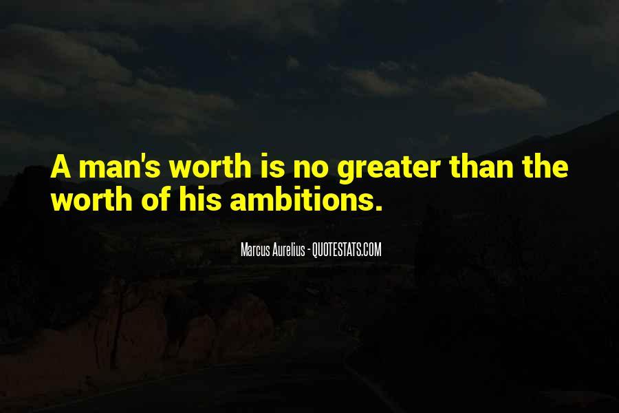 Worth Man Quotes #309379