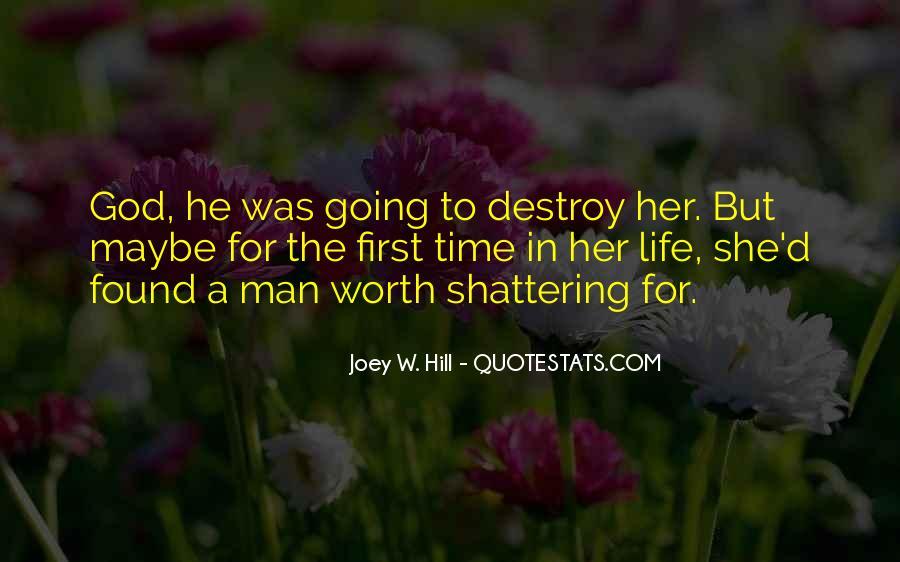 Worth Man Quotes #47513