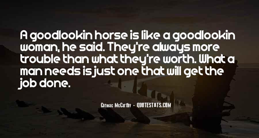 Worth Man Quotes #66088
