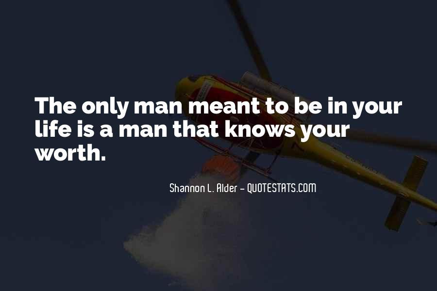 Worth Man Quotes #84376