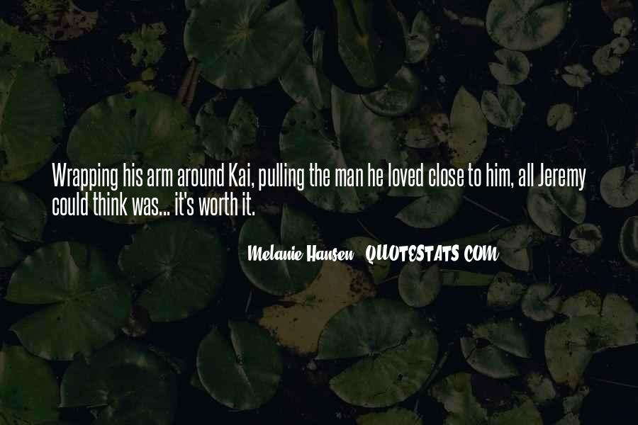 Worth Man Quotes #85080